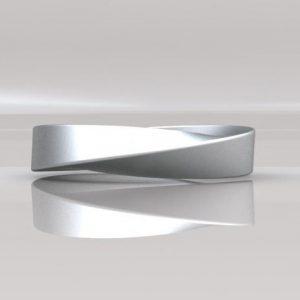Mobius 18k Wedding Ring, 4mm wide mobius Wedding Band
