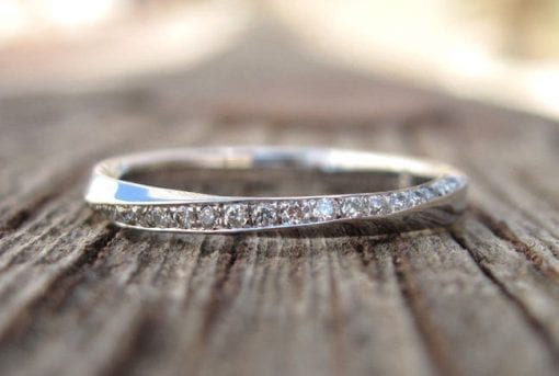 Mobius diamond wedding band, Diamond wedding eternity band