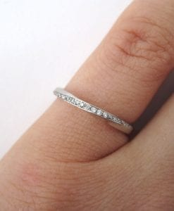 Mobius diamond wedding band, Diamond wedding eternity band