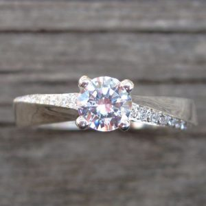 Mobius Engagement Ring, Mobius Diamond Engagement Ring