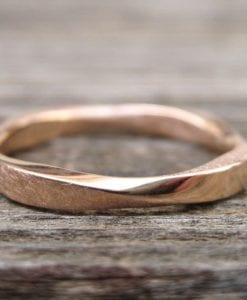 Mobius Stacking Wedding Ring, Rose Gold 3mm Mobius Ring