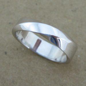 Mobius wedding band, 5.5mm mobius wedding band