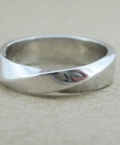 Mobius wedding band, 5.5mm mobius wedding band