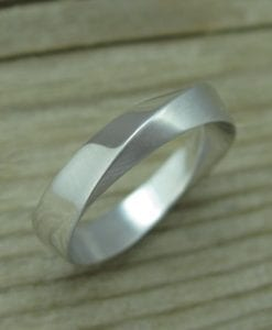 Mobius Wedding Band With Matte Texture, 4.5mm Mobius Wedding Ring