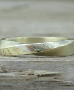 Mobius Wedding Ring, 4mm Mobius Wedding Band
