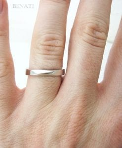 Mobius Wedding Ring, 4mm wide mobius Wedding Band