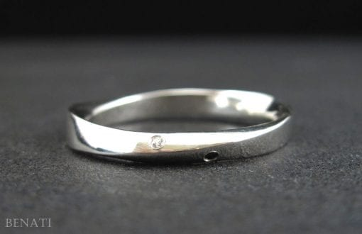 Mobius Wedding Ring, Diamond mobius Wedding Band