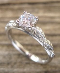Moissanite Engagement Ring, Moissanite Ring