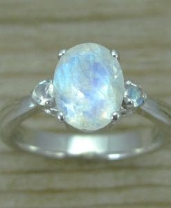 Moonstone Antique Engagement Ring, Antique Gold Ring