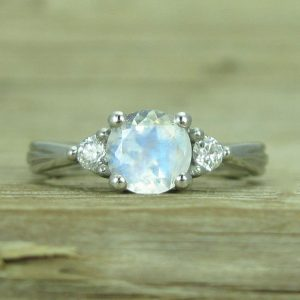 Moonstone Antique Engagement Ring, Antique Moonstone Ring