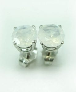 Moonstone Stud Earrings, Moonstone Earrings