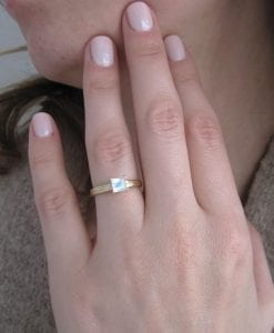Moonstone Vintage Style Engagement Ring, Antique Moonstone Ring