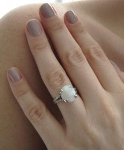 Opal Leaf Engagement Ring, Opal Leaves Engagement Ring