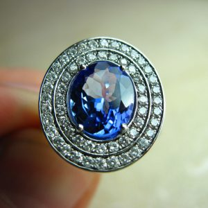 Oval Tanzanite Engagement Ring, Tanzanite Ring