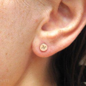 Phillips Screw Stud Earrings, White Gold Simple Stud Earrings