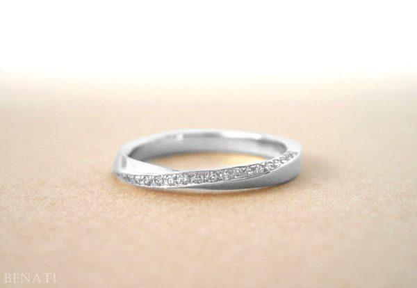 Platinum mobius ring, Diamond mobius ring