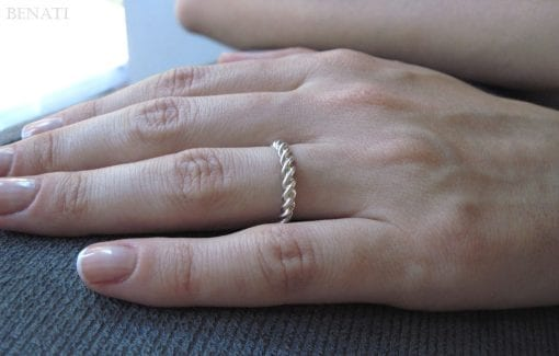Rope Wedding Ring, Twisted Rope Wedding Ring