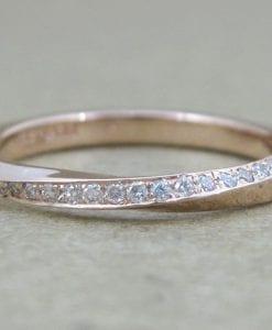 Rose gold Engagement Ring, Rose gold diamond ring