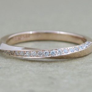 Rose gold Engagement Ring, Rose gold diamond ring