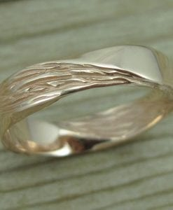 Rose Gold Mobius Wedding band, Mobius Ring In 14k Rose Gold