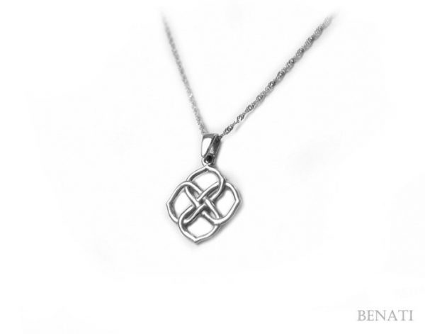 Sale! Gold Infinity Knot Pendant - 14k Solid White Gold, New Designer Gold Pendant - Gold Infinity Necklace