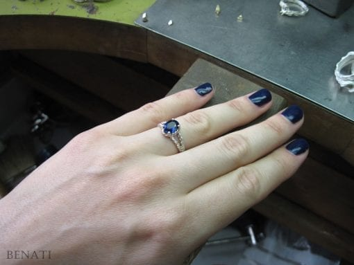 Sapphire Engagement Ring, Oval Sapphire Engagement Ring