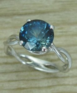 Sapphire Engagement Ring, Sapphire Infinity Ring