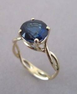 Sapphire Infinity Engagement Ring, Blue Gemstone Engagement Ring
