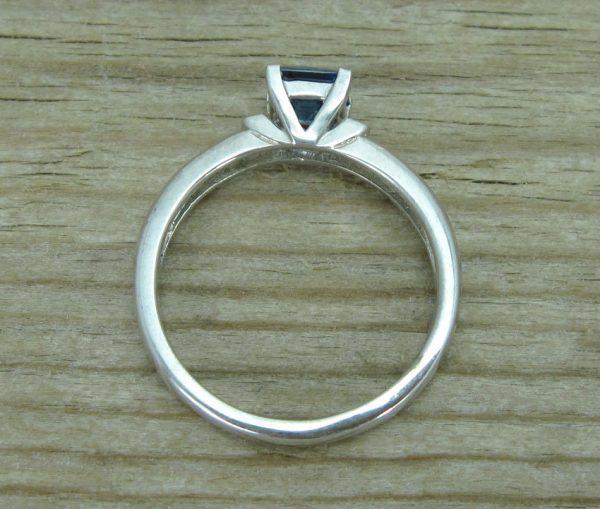 Sapphire Vintage Engagement Ring, Antique Sapphire Engagement Ring