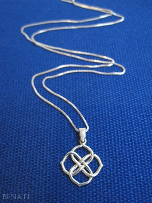 Silver Infinity Knot Pendant, valentine's gift