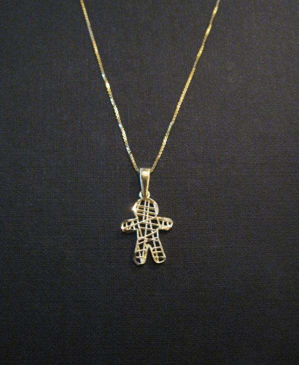 Super cute baby boy - in 14k solid gold wire mesh - newborn - life - baby pendant - boy gold pendant - mother - mum - grandmother - grandma