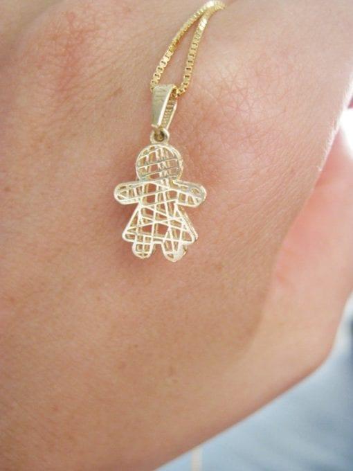Sweet girl pendant, New baby necklace gift