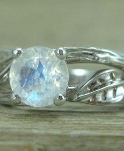 Twig Moonstone Engagement Ring, Moonstone Engagement Ring