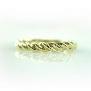 Twisted Rope Wedding Ring, Twisted Rope Gold Wedding Band