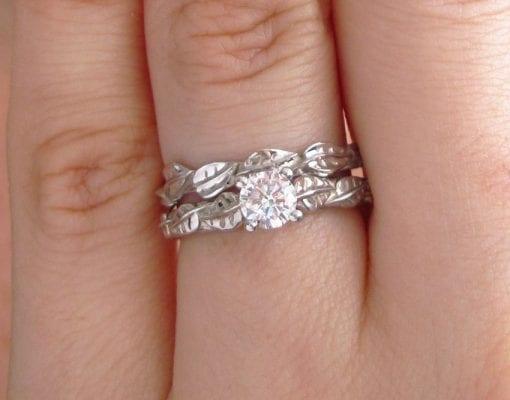 Wedding Leaf Ring, Leaf Wedding Ring