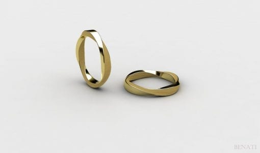 Wedding Mobius Ring In 14k Gold, modern & contemporary