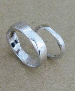 Wedding Rings Set, Mobius Ring