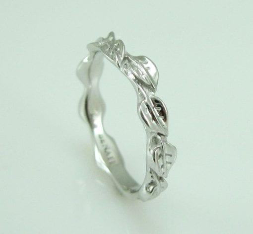 Wedding Set, Leaf Ring Wedding Set