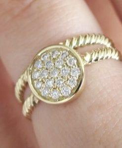 Wedding Set, Twisted Rope Diamond Ring Set