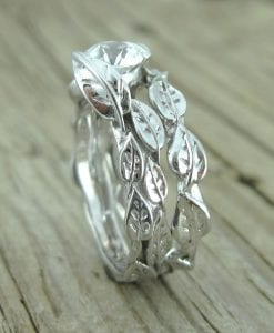 Wedding Set, Unique Engagement Ring