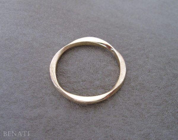 Wedding Stacking mobius ring, 2mm Mobius wedding band