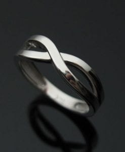 White gold infinity ring, Infinity wedding ring