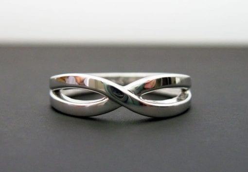 White gold infinity ring, Infinity wedding ring