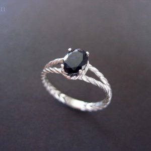 Braided Rope Ring, Iolite Ring