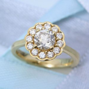 Diamond Engagement Ring, Vintage Engagement Ring
