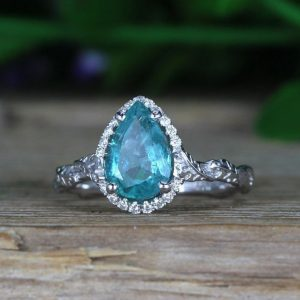 Emerald Engagement Ring, Emerald Ring
