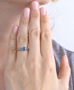 Engagement Ring, Natural Sapphire Ring