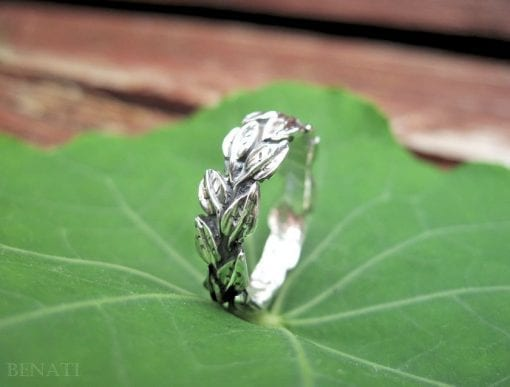 Leaves Ring In Silver, Leaf Ring