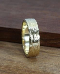 Mens wedding band, wide wedding band