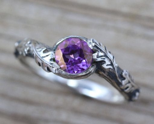 Nature Ring Set, Wedding Ring Set